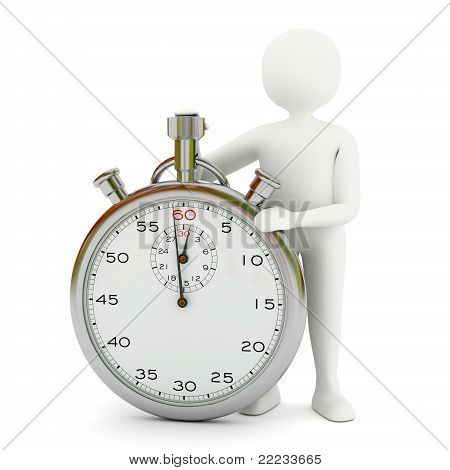White Man With Stopwatch