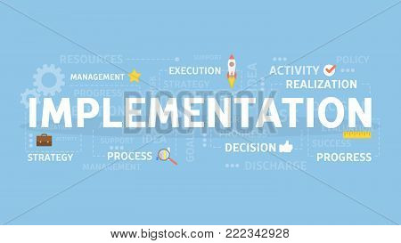 Implementation concept illustration. Idea of innovation and development.