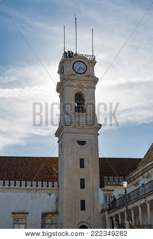The Bell Tower of Coimbra University in Portugal.
