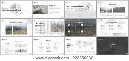 Minimal presentation templates. Technology design on white background. Futuristic technology circle element. Brochure cover vector design. Presentation slides for flyer, brochure, report, advertising