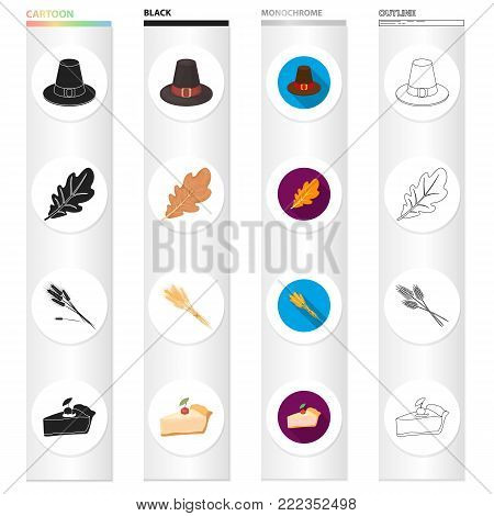 textiles, cooking, Economy and other  icon in different style.sweetness, treat, nature, icons in set collection.