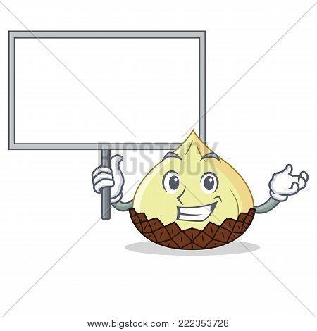 Bring board snake fruit character cartoon vector illustration