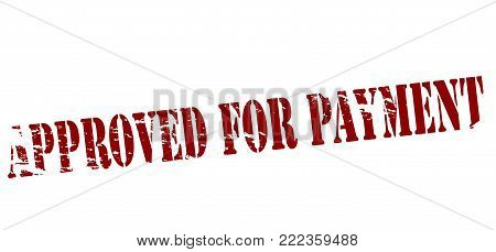 Rubber stamp with text approved for payment inside, vector illustration