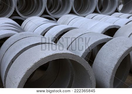 View of concrete tubes in Thailand, Asia