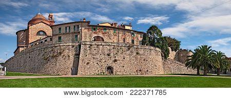 Castiglione del Lago, Perugia, Umbria, Italy: panoramic view of the ancient town on the shore of Trasimeno lake