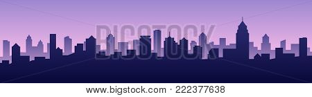 Vector illustration background city skyline silhouette cityscape landscape