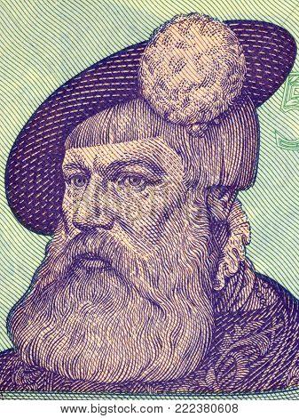 Gustav I of Sweden portrait from Swedish money