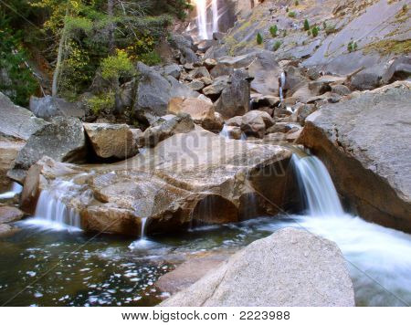 Yosemite Waterfall In Autumn