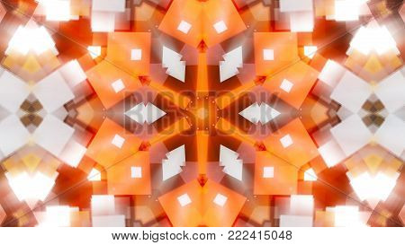 Abstract background with technology kaleidoscope. Seamless loop