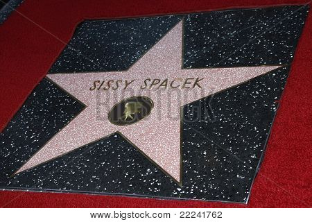 LOS ANGELES, CA - AUG 1: Sissy Spacek star at a ceremony where Sissy Spacek is honored with a star on the Hollywood Walk of Fame in Los Angeles, California on August 1, 2011