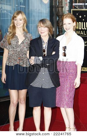 LOS ANGELES, CA - AUG 1: Ahna O'Reilly, Sissy Spacek, Jessica Chastain  at a ceremony where Sissy Spacek is honored with a star on the Hollywood Walk of Fame in Los Angeles, CA on August 1, 2011