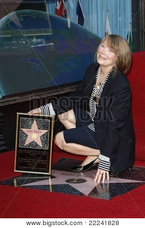 LOS ANGELES, CA - AUG 1: Sissy Spacek at a ceremony where Sissy Spacek is honored with a star on the Hollywood Walk of Fame in Los Angeles, California on August 1, 2011