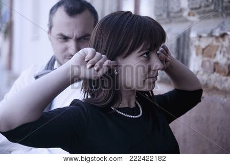 Young Couple Is Having A Quarrel. (love, Hate, Unhappy, Stress, Negative Emotion Concept)
