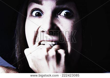 Sad Woman Beating Her Fist (gestures, Body Language, Psychology Cjbcept)