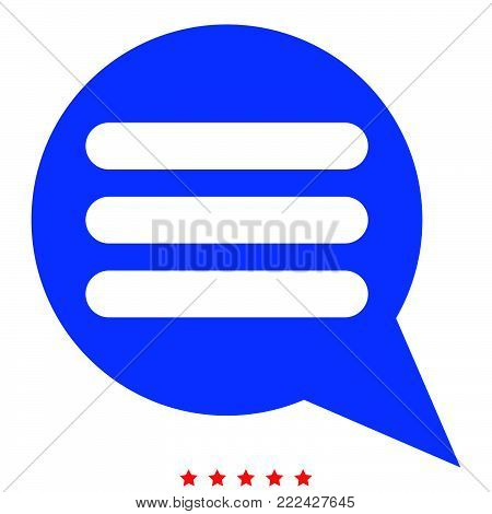 Comments icon Illustration color fill simple style