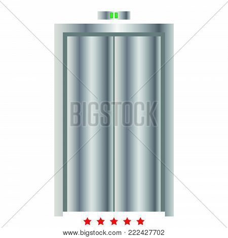 Elevator doors icon Illustration color fill simple style