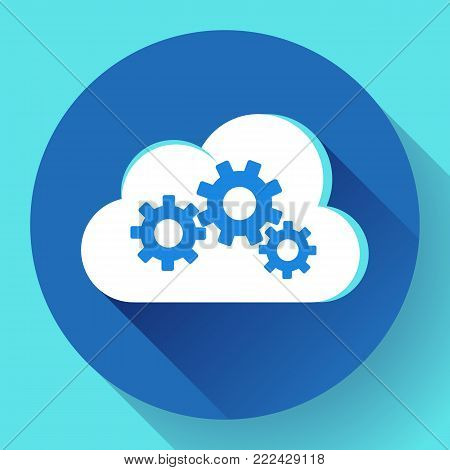Cloud Logo Cloud Services Cloud Computing Gear Logo Vector