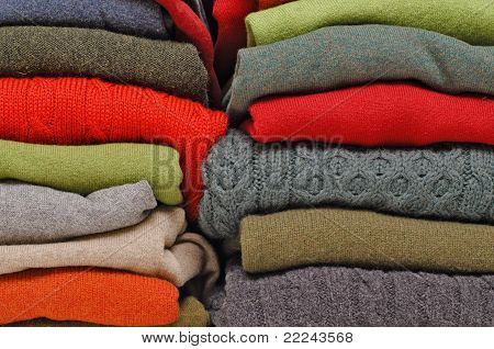 Winter woolies in autumn colours