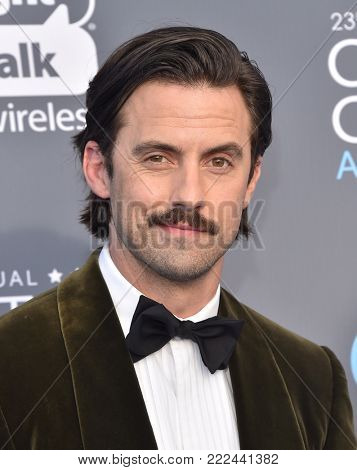 LOS ANGELES - JAN 11:  Milo Ventimiglia arrives for the 23rd Annual Critics' Choice Awards on January 11, 2018 in Santa Monica, CA