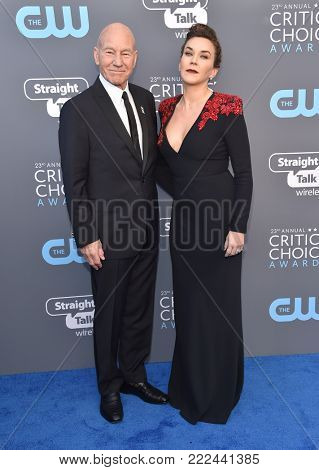 LOS ANGELES - JAN 11:  Patrick Stewart arrives for the 23rd Annual Critics' Choice Awards on January 11, 2018 in Santa Monica, CA