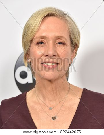 LOS ANGELES - JAN 08:  Betsy Beers arrives for the ABC Winter 2018 TCA Event on January 08, 2018 in Pasadena, CA