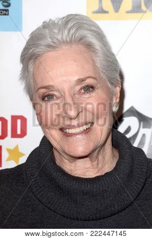 LOS ANGELES - JAN 10:  Lee Meriwether at the Batman '66 Retrospective and Batman Exhibit Opening Night at the Hollywood Museum on January 10, 2018 in Los Angeles, CA