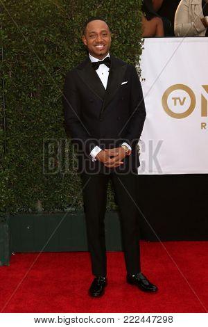 LOS ANGELES - JAN 15:  Terrence J at the 49th NAACP Image Awards - Arrivals at Pasadena Civic Center on January 15, 2018 in Pasadena, CA