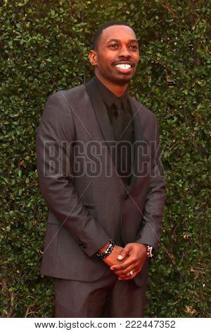 LOS ANGELES - JAN 15:  Melvin Jackson Jr at the 49th NAACP Image Awards - Arrivals at Pasadena Civic Center on January 15, 2018 in Pasadena, CA