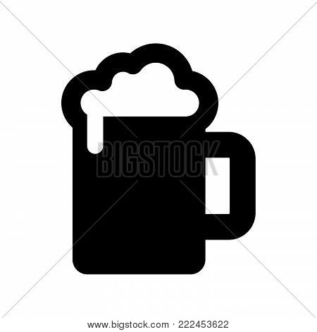 Beer jar icon isolated on white background. Beer jar icon modern symbol for graphic and web design. Beer jar icon simple sign for logo, web, app, UI. Beer jar icon flat vector illustration, EPS10.