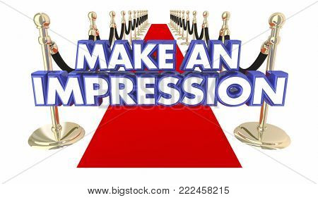 Make an Impression Red Carpet Big VIP Entrance 3d Illustration