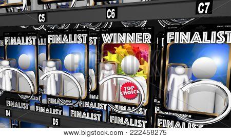 Winner Vs Finalists Competition Champion Chosen 3d Illustration
