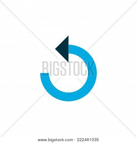 Reload icon colored symbol. Premium quality isolated rotate left element in trendy style.