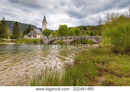 John The Baptist's Church At Lake Bohinj