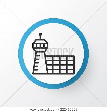 Aerodrome icon symbol. Premium quality isolated airport building element in trendy style.