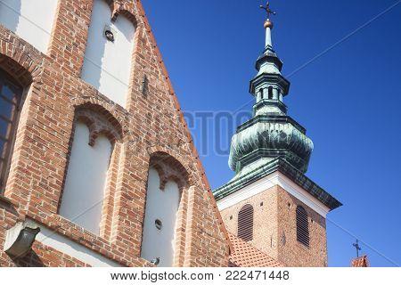 Poland Radom, St Catherine church, sunlit, morning
