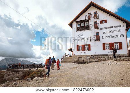 Rifugio High At The Dolomites Mountains