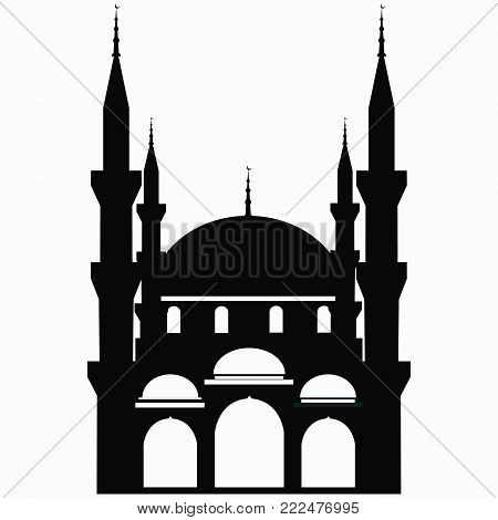 Mosque Icon.Mosque Vector on a white background