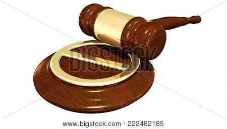 No Symbol Legal Concept 3D Illustration