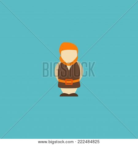 Icon flat giant element.  illustration of icon flat huge man isolated on clean background. Can be used as giant, huge and monster symbols.