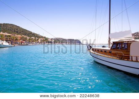 Andratx port marina in Mallorca balearic islands view from sailboat