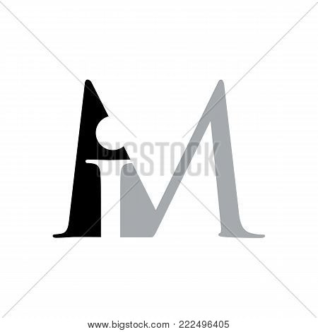 Letter IM logo. Royal hotel, Premium boutique, Fashion logo, Super logo, VIP logo. IM letter logo, Premium quality logo, Lawyer logo.letter IM, logo icon eps8,eps10