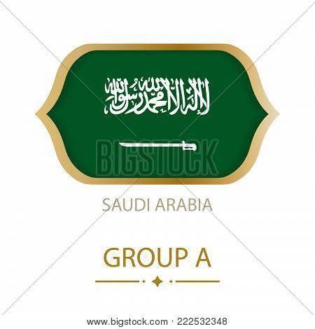 The flag of Saudi Arabia is made in the style of the Football World Cup