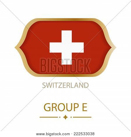 The flag of Switzerland is made in the style of the Football World Cup