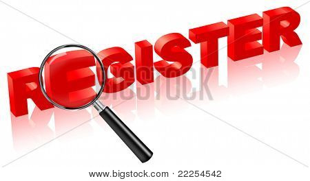 register here sign in here register button register icon in red i