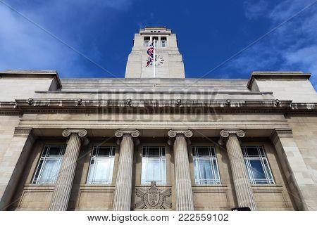 Leeds - city in West Yorkshire, UK. Parkinson Building of the University of Leeds.