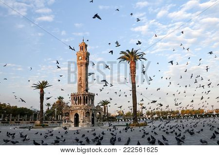 The Clock Tower in the central square of Konak in Izmir