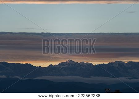 View of Toubkal, Atlas mountains, North Africa