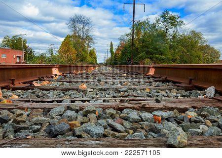 Rails under the sun rail road travel station subway rails waiting for the road railway rails