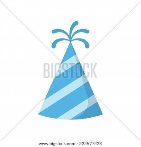 Party hat isolated on white background. Vector stock.