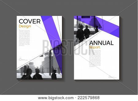 abstract layout purple background modern cover design modern book cover Brochure cover  template,annual report, magazine and flyer layout Vector a4